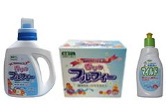 「香りのフルフィー(除菌成分配合)」、植物系台所用洗剤「マイルド」