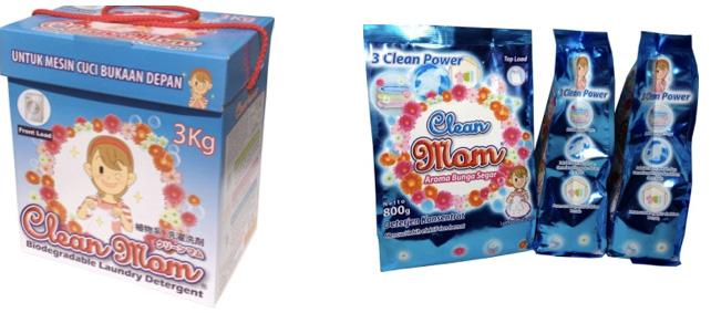 粉末洗剤「クリーンマム」
